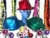 Disco hats, necklaces, earings, wrist streamers and metallic streamers will give your guests disco fever