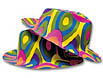 Psychedelic hats will brighten your dance floor