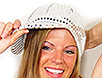 Silver sequin newsboy bling cap