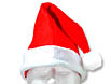 Heavy weight red pile felt Santa hat is trimmed with white snowtex band. It will be a sure hit at your Christmas party. One size fits most.