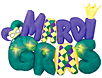 Mardi Gras masks, beads, decorations, banners and more