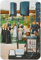DJ Billy James uses a separate sound system for ceremonies and provides appropriate music