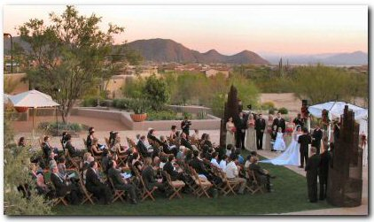 Phoenix Wedding DJ Billy James provides a separate sound system and elegant music for the ceremony