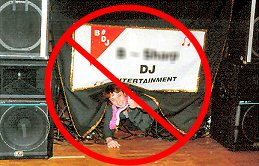Phoenix DJ Billy James won't display a gaudy banner at your wedding reception