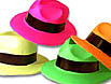 Neon gansgter hats in assorted colors