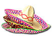 Colorful selection of sombreros include neon and serape trim