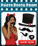 Props on a stick, silly hats, wigs, and more fun wearables for great photo booth fun.