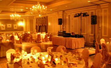 DJ Billy James equipment set up at the Phoenix Ritz-Carlton
