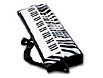 24 inch inflatable keyboard on a strap is a fun prop for adults and kids