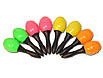 Make some noise with these 4 inch mini neon maracas in assorted colors