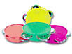 Mini 3 inch neon tambourines by the dozen