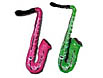 Your guests can be part of the band with multi color 21 inch saxophones