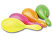 7 inch maracas come in assorted hot colors to light up the night