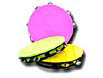 Neon 5 1/2 inch tambourines in three assorted colors are not inflatables