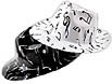 Music note fedora comes in assorted black and white