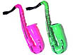 Inflatable saxophones in 4 colors